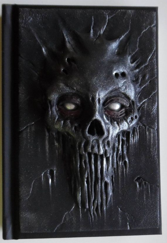 Its a unique notebook with handmade polymer clay cover - monster skull. Notebook has 98 white sheets (Canson Art Book One). You could use it as