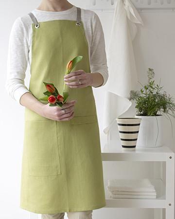 Kitchen Apron in Fern Linen