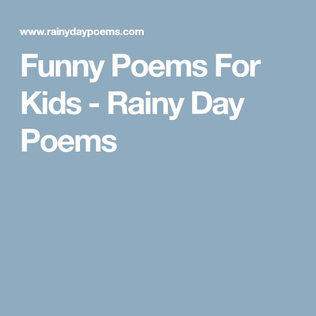 Funny Poems For Teenagers Best 25+ Funny kids po...