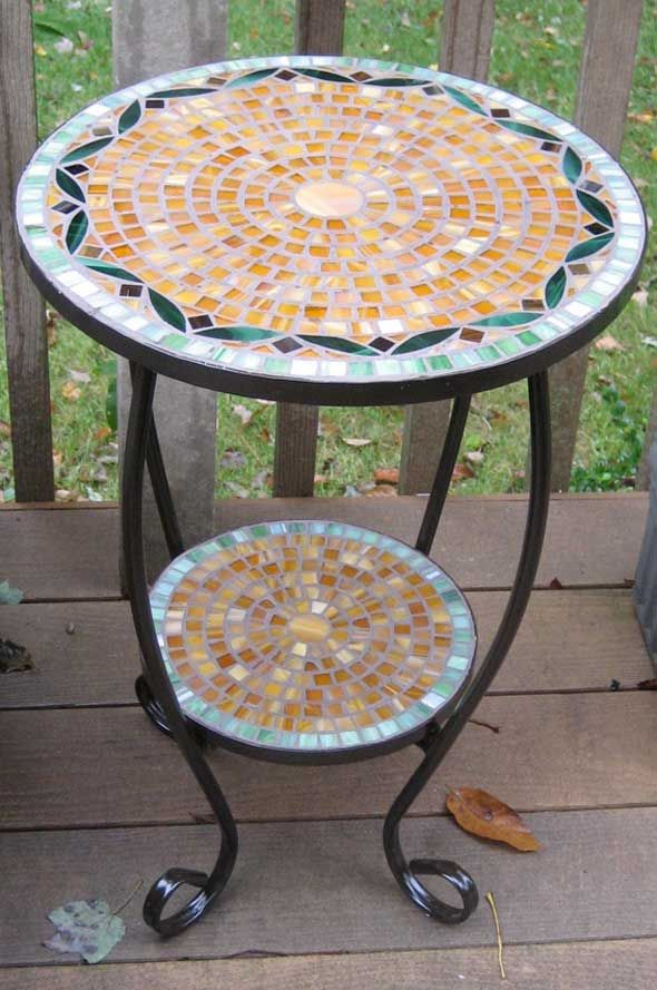 Mosaic table by Susan Blum         #mosaic #table #art