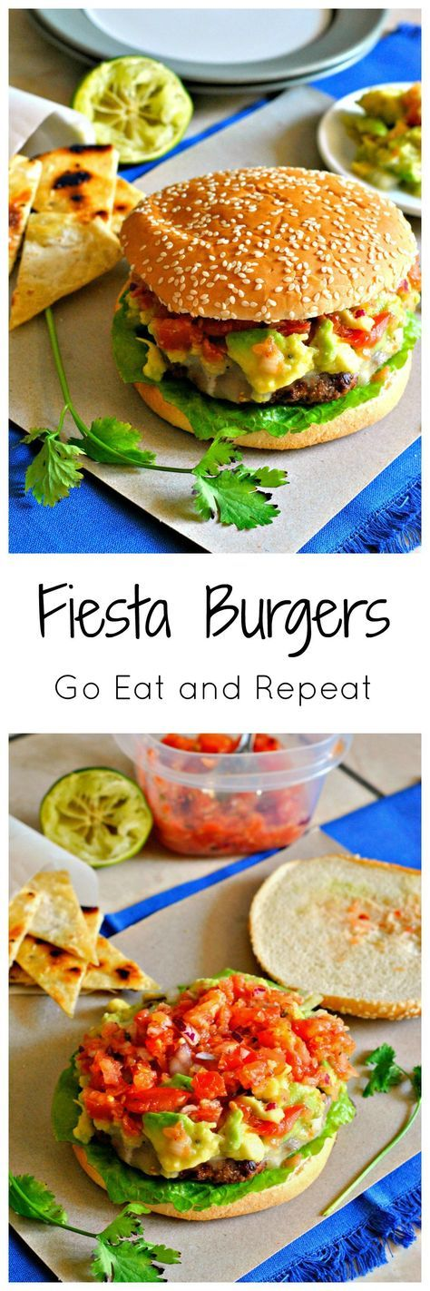 These Mexican inspired burgers are fresh, juicy, and perfect for summer bbq's! Spicy pepper jack cheese, cool pico de gallo, and creamy guacamole elevate this burger to the next level!