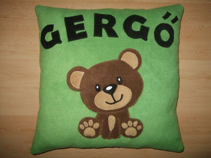 Névre szóló párna macis mintával / Personalised pillow