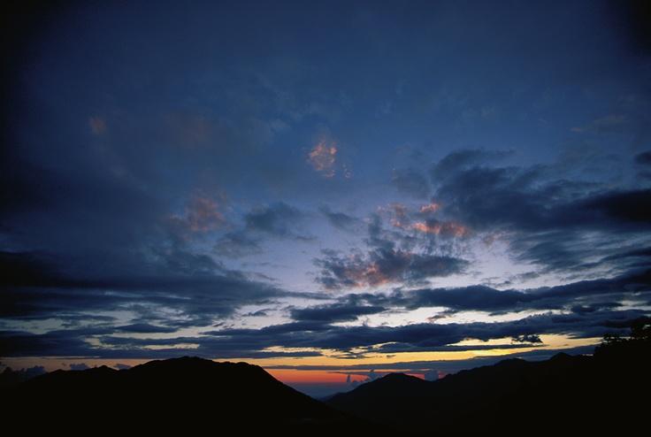 Sunset in Himalayas, 1997