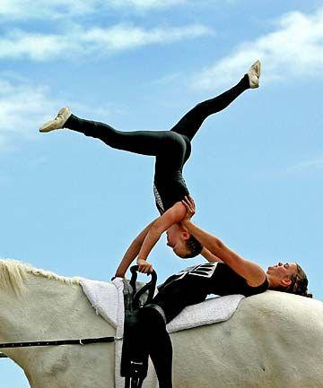 Gymnastics on horseback is no circus act   Stuff.co.nz