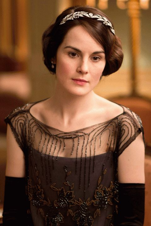 Downton Abbey Series 4 - Headband and off the shoulder beading