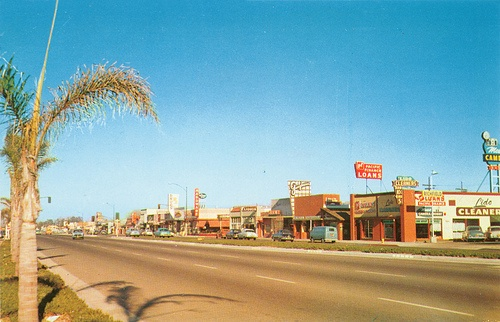 Costa Mesa - Newport Blvd at 18th  Costa Mesa in the 50's
