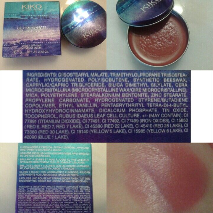 KIKO - Boulevard Rock • Glow Touch lips & cheecks - 104 Magnetic Mauve •Price: 5.90 • PRO • great price / quality ratio • dual purpose • easy availability • CONS • INCI