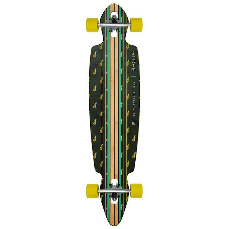 "Globe Longboard Complete PINNER DROP THROUGH BAMBOO/PINEAPPLE 10"" x 41"" | Sporting Goods, Outdoor Sports, Skateboarding & Longboarding | eBay!"