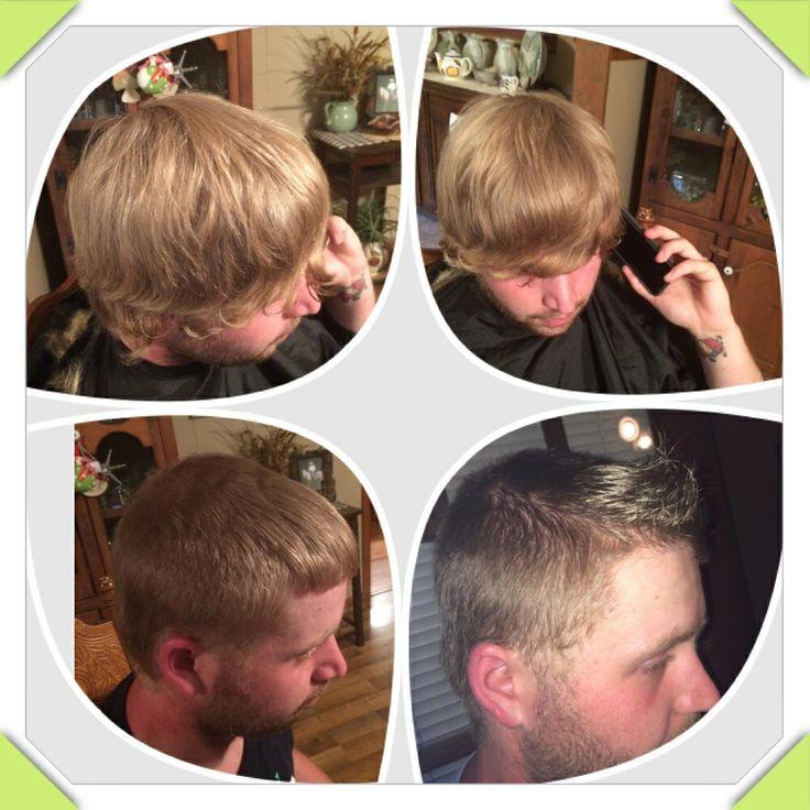 Before and after Fohawk I did at Booneville Academy of Cosmetology!!!
