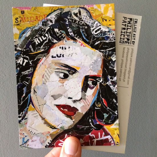 "NEW POSTCARD! ""AMÁLIA RODRIGUES""!!!  Limited Edition from the original collage artwork by ©philippe patricio / all rights reserved"