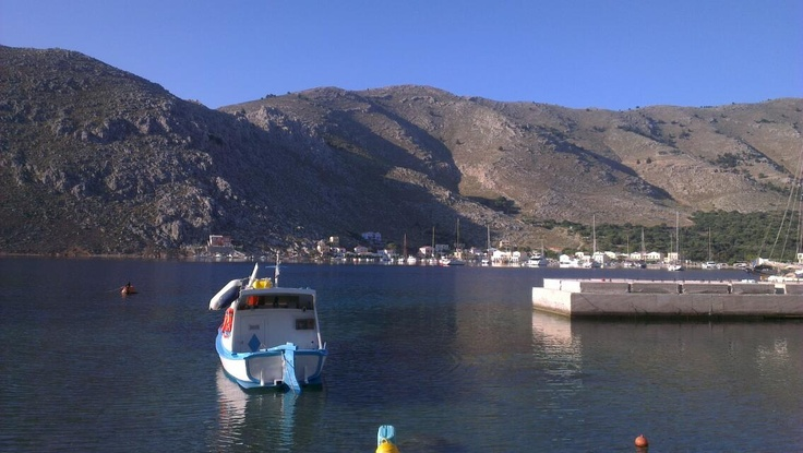 The view from the holiday apartment in Pedi, Symi, Greece
