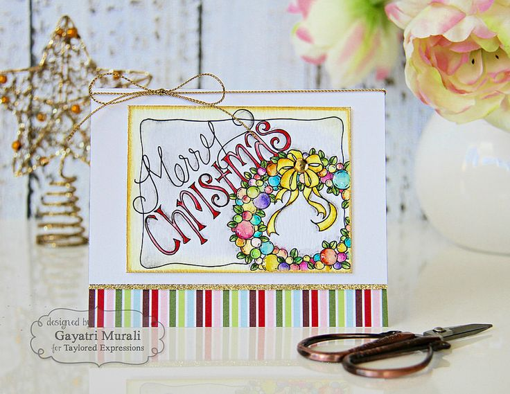 Christmas Watercolor Panels from Taylored Expressions