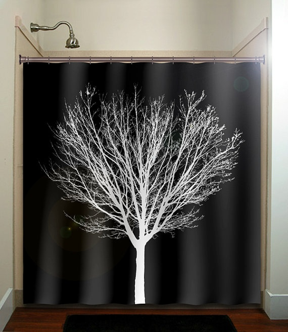 78 Ideas About Black Shower Curtains On Pinterest