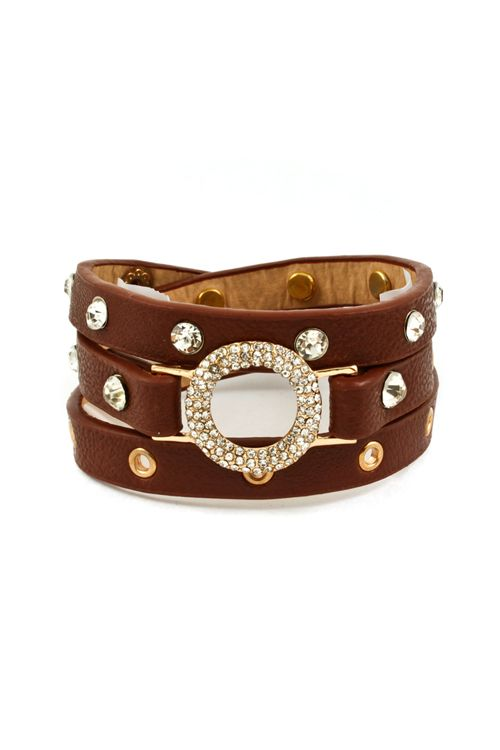 Crystal Eternity Bracelet in Chestnut on Emma Stine Limited