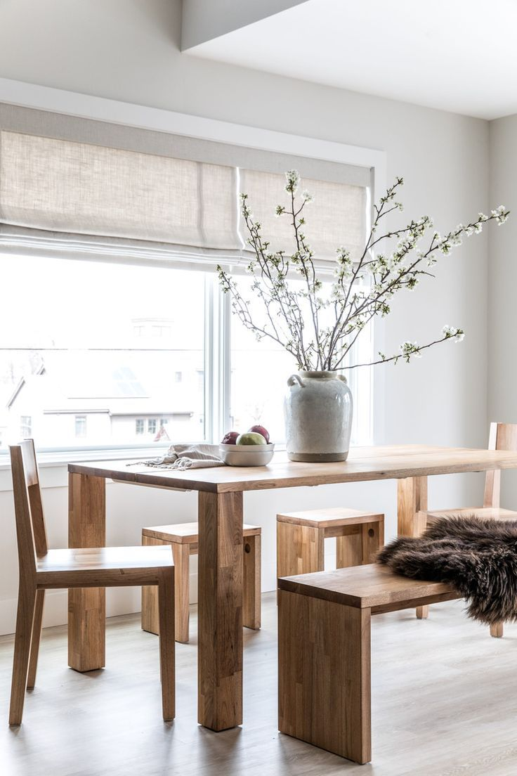 This Zen Maine Home Effortlessly Marries Wabi Sabi And Scandinavian Design Domino Minimalist Dining Room Dining Room Decor Dining Room Design