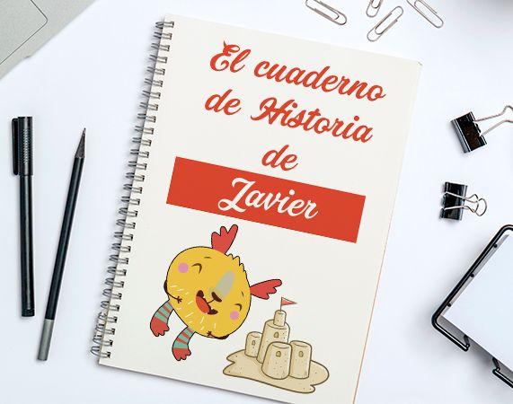 Cuaderno personalizado para el colegio