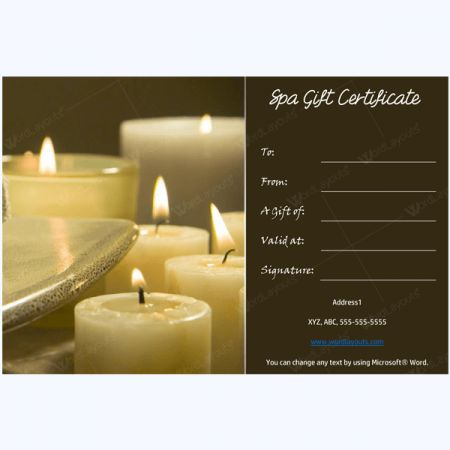Gift Certificate 27 | Gift certificate template, Spa gifts ...