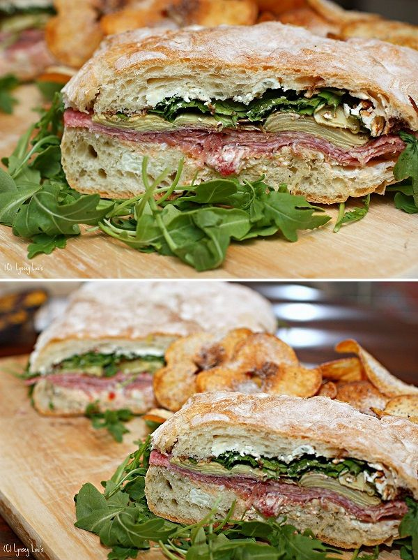 Pressed Picnic Sandwich We just love the roasted red pepper and pepperoncini spread used to make this sandwich! It is a typical pressed picnic sandwich that is easy to prepare and delicious.
