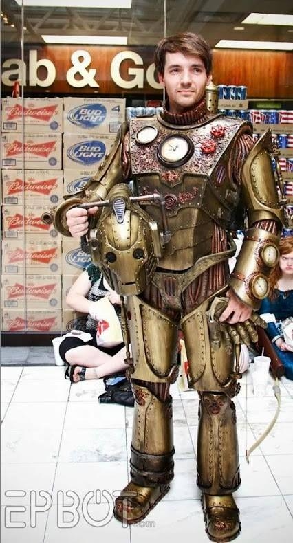 Epic Steampunk Cyberman cosplay