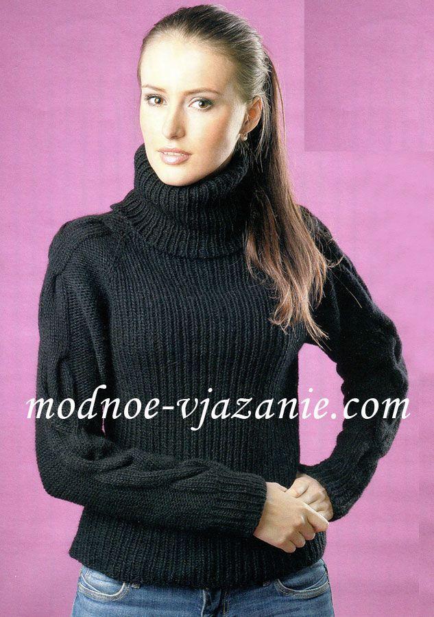 Бесшовный свитер реглан (вязание спицами)