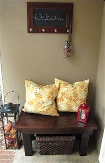 The Modest Homestead: Rustic Front Porch Bench  for the front porch longer bench?