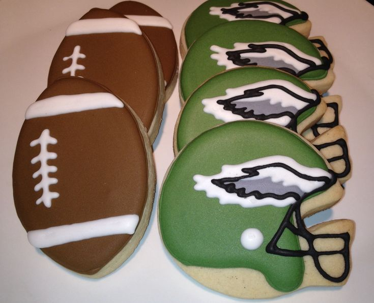 Philadelphia Eagles Football Cookies.