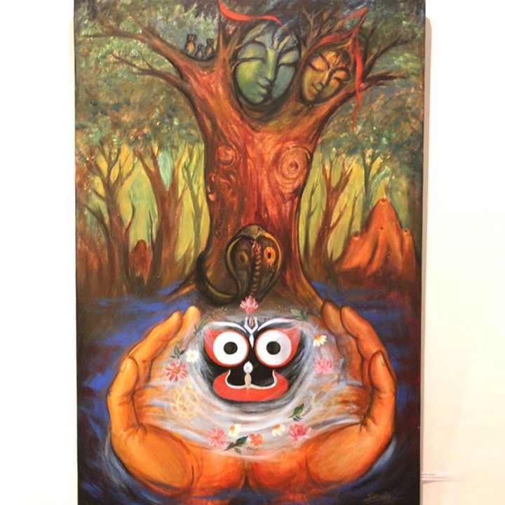Amazing artwork depicting the various auspicious signs sought in the 'Daru' of Lord Jagannatha ‪#‎Nabakalebara‬