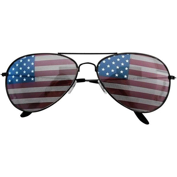 American USA Flag Design Metal Frame Aviator Unisex Sunglasses with... ($6.99) ❤ liked on Polyvore featuring accessories, eyewear, sunglasses, american flag lens sunglasses, american flag aviators, aviator style sunglasses, american flag sunglasses and metal frame glasses