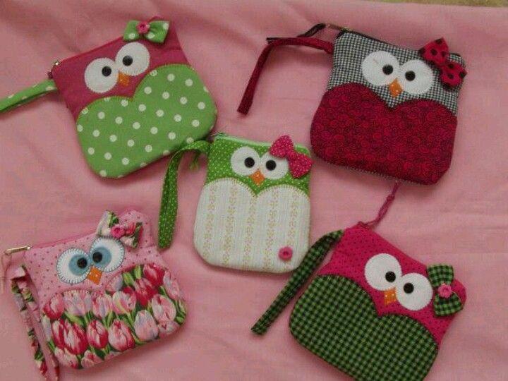 Cute owl zipper bags - inspiration only :D