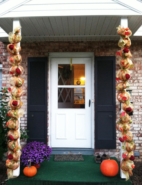 Fall mesh garlands by ans1987vrn on Etsy, $75.00