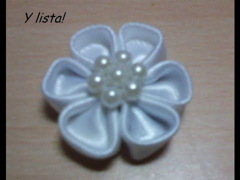 tutorial flores japonesas pequeñas decorar moños manualidades No.121 Manualidades la Hormiga - YouTube