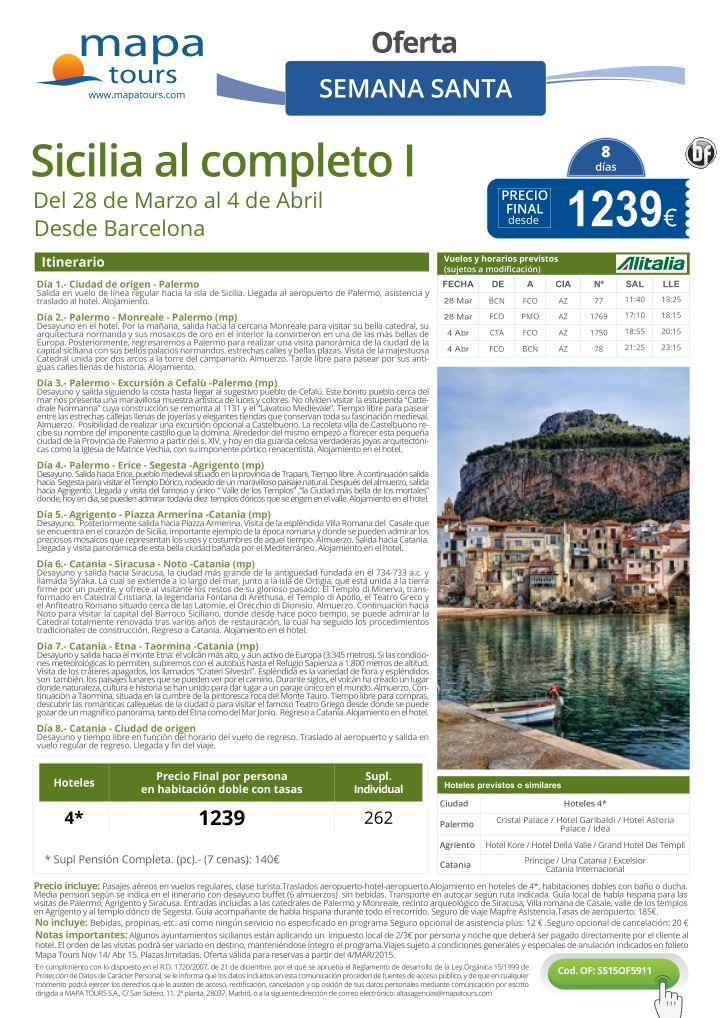 Sicilia al completo Semana Santa Barcelona**Precio final desde1239** ultimo minuto - http://zocotours.com/sicilia-al-completo-semana-santa-barcelonaprecio-final-desde1239-ultimo-minuto/