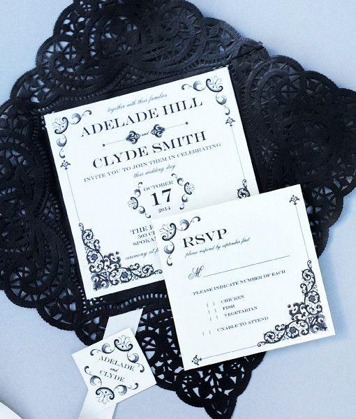 16 best Vintage Type Wedding Invitations images on Pinterest ...