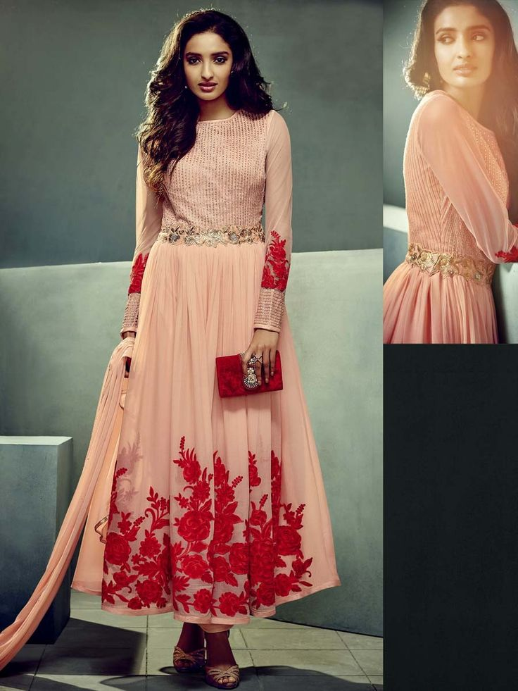 Dazzling outfit can be life of any party or celebration.  Item Code: SLSVH3437 http://www.bharatplaza.com/new-arrivals/salwar-kameez.html