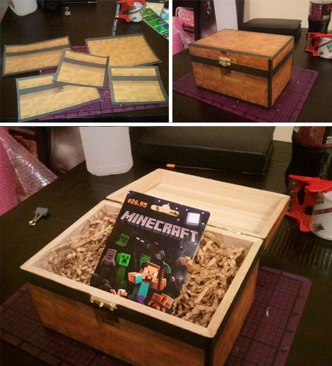 Acquired a small wood box from a local hobby store. Attached all textures using mod podge and coated the outside to seal the paper in.