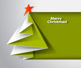 Paper folped christmas tree vectors 03