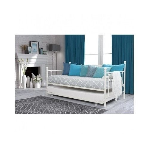 White-Day-Bed-Trundle-Modern-Daybed-Sofa-Metal-Frame-Living-Room-Furniture-Twin