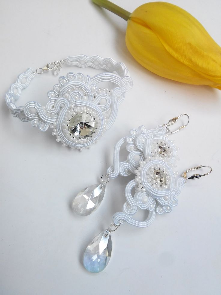 Soutache wedding set by MaNiko https://www.facebook.com/maniko2013