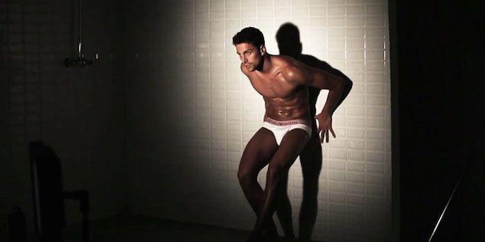 Italian Olympic Swimmer Luca Dotto Strips For Emporio Armani
