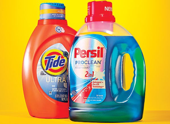 Comparison of Persil vs. Tide Laundry Detergent