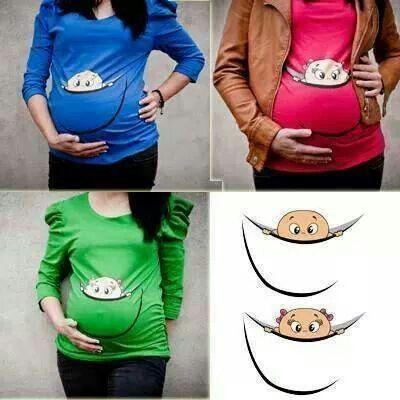 Remera para embarazada