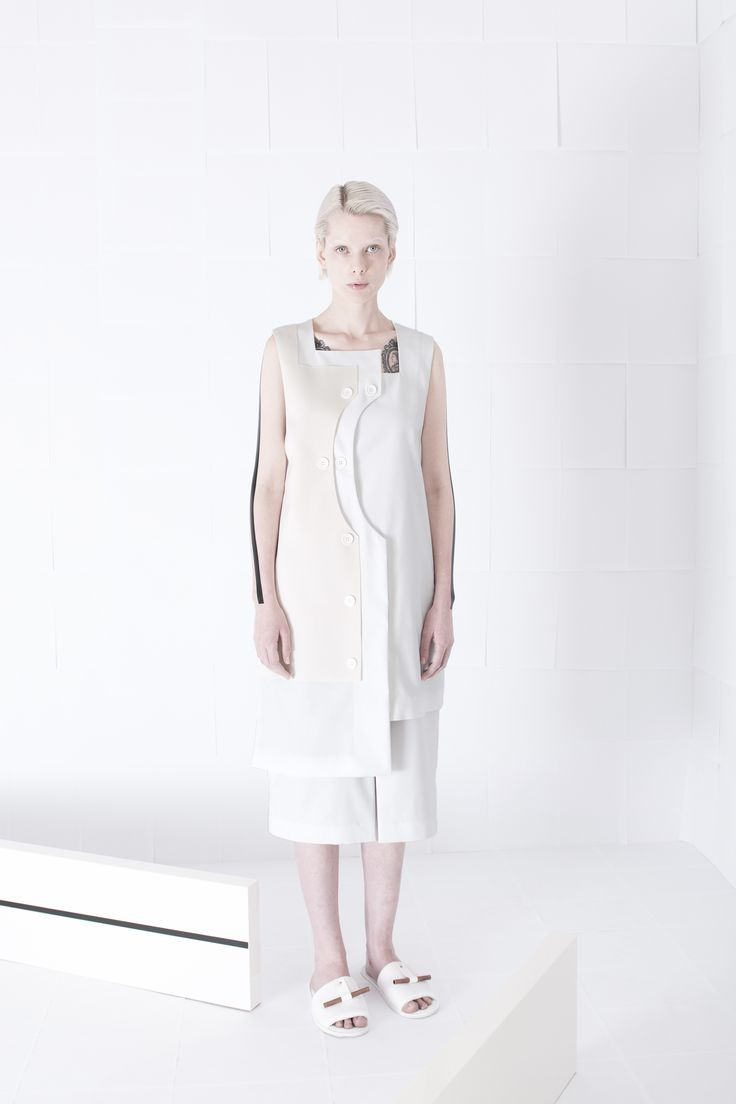 SS15 - Curved Panel #orphanbird #ss15 #minimalfashion #whitefashion #contemporary #editorial #allwhite
