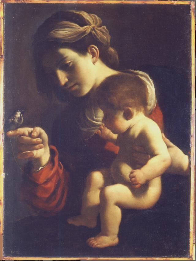 La Madonna del passero Guercino