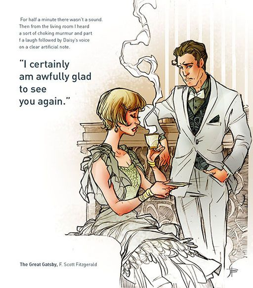 The Great Gatsby (Personal Illustrations) by simona bonafini, via Behance