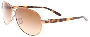 Oakley Oo4079 407901 Feedback Rose Gold Aviator Sunglasses.