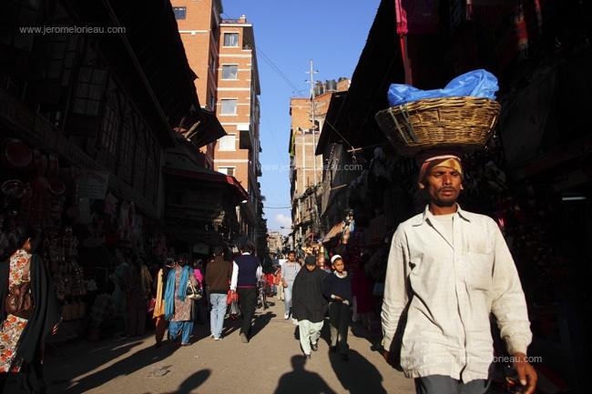 Street scene around Indra Chowk, Kathmandu