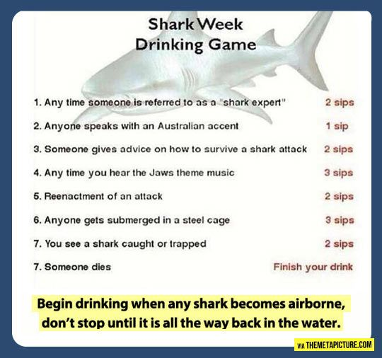 Shark Tank Drinking Game