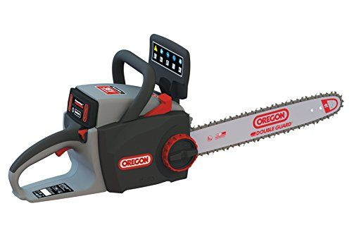 OREGON CS300 Cordless Lithium Ion Battery Chainsaw with PowerSharp Self-Sharpening System