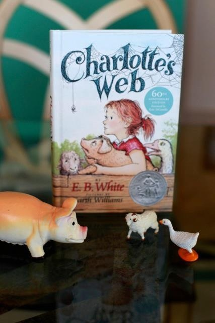 Charlotte's Web theme birthday party- the table decorations