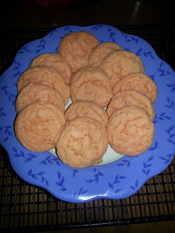 Orangesicle cookies. Just baked  lt was delicious.